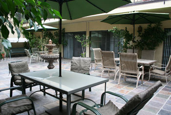 Spacious Patios At Garden Of Palms